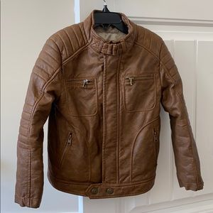 Zara boys faux leather jacket